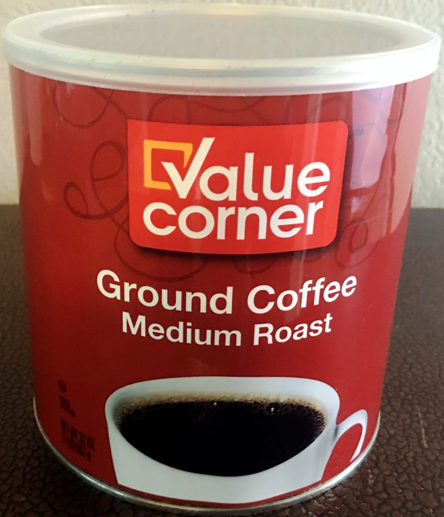 Value Corner Ground Coffee Medium Roast Back