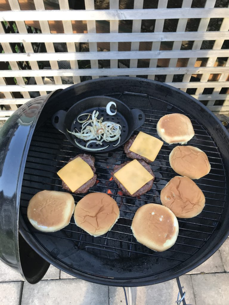 Barbecue With Cheeseburgers