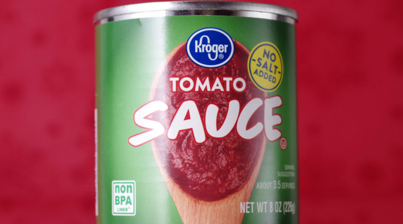 Kroger Tomato Sauce 8oz Can Front