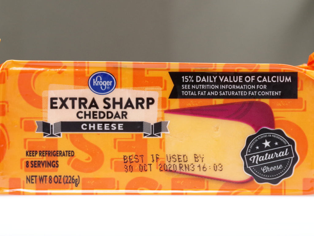 Kroger Extra Sharp Cheddar Cheese 8oz