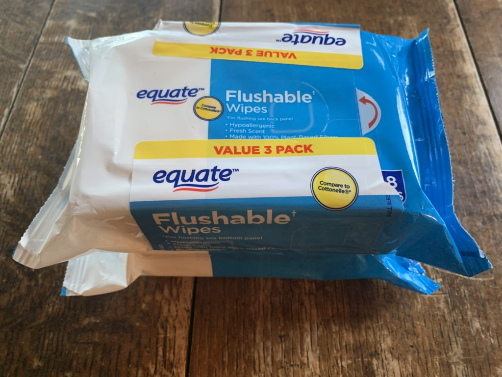 Equate Flushable Wipes 3 Pack