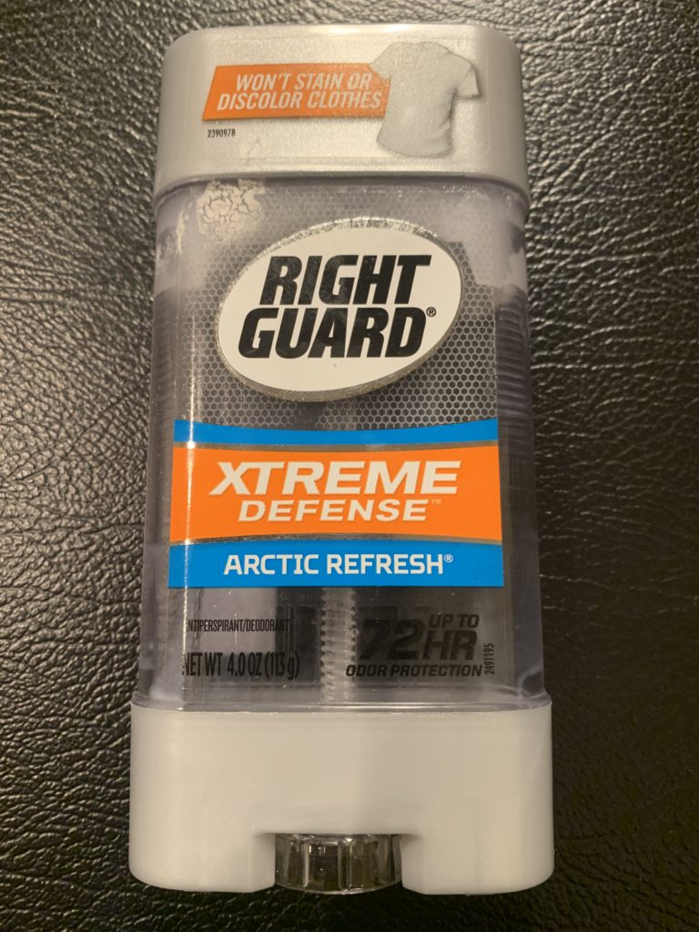 Right Guard Extreme Defense